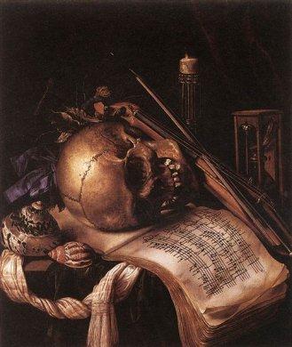 Vanitas Still Life by Simon Renard de Saint-André, middle of the 17th century